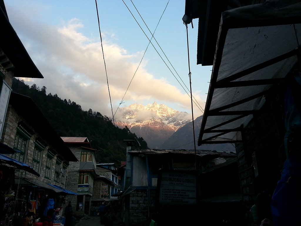 Lukla with view to Zetra La Pass