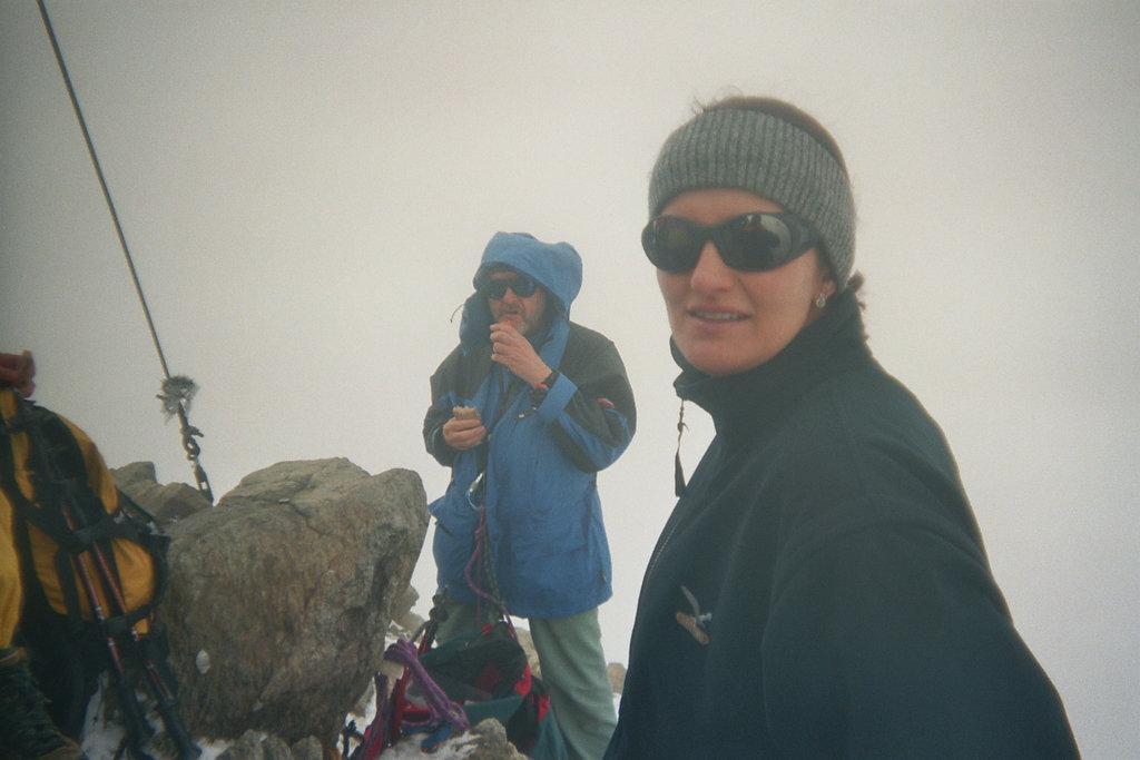 Brotzeit am Gipfel