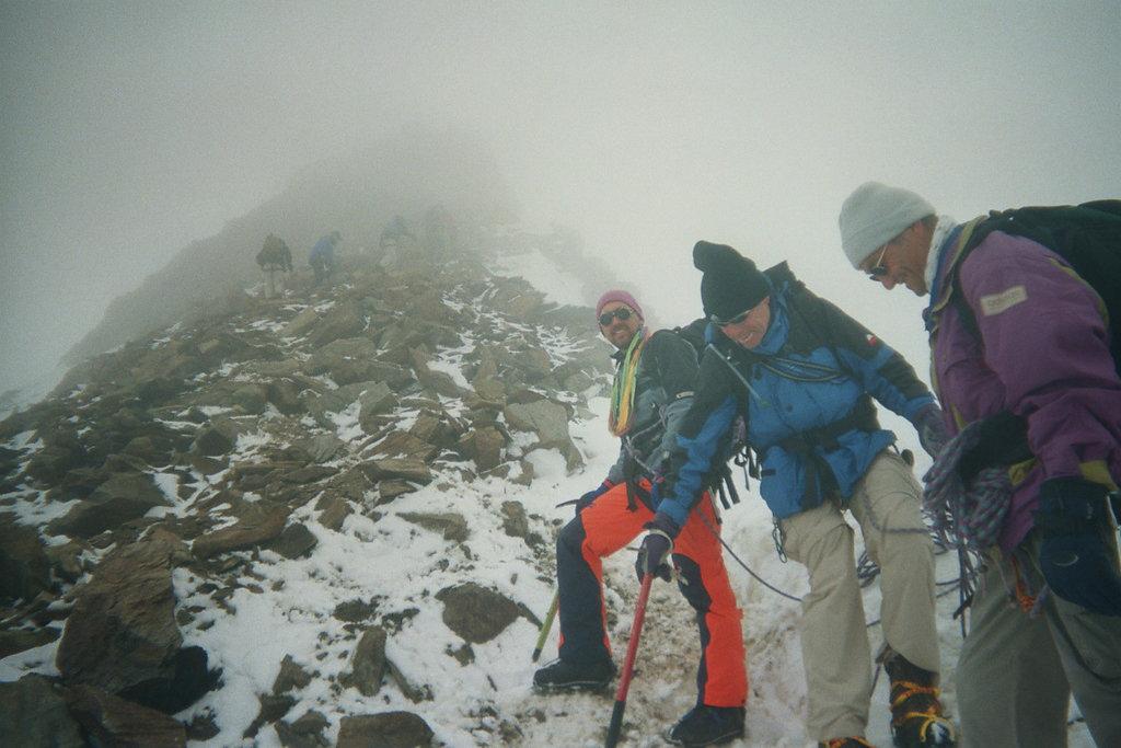 Kletterei (II) im kombiniertem Gelände am Gipfelaufbau