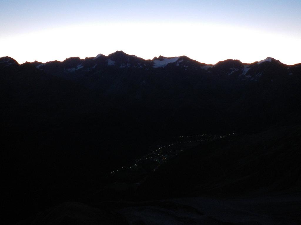 Sulden bei Sonnenaufgang
